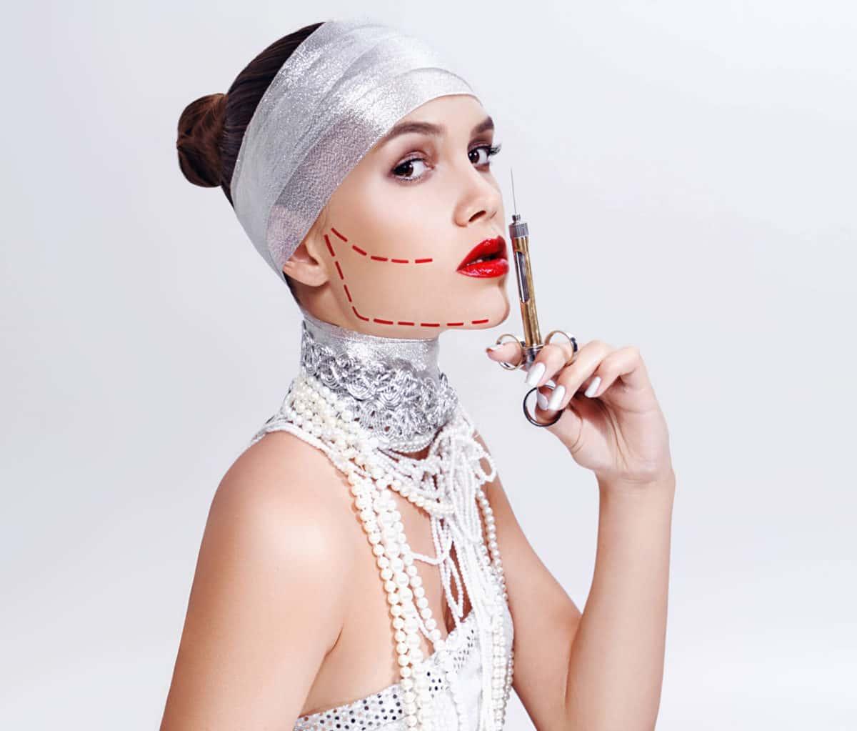 Инъекции ботокса для контурной пластики лица